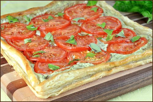 Tomato and Basil Tart | Deliciousness! | Pinterest