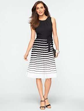 Talbots - Variegated Stripe Dress | Dresses | Misses