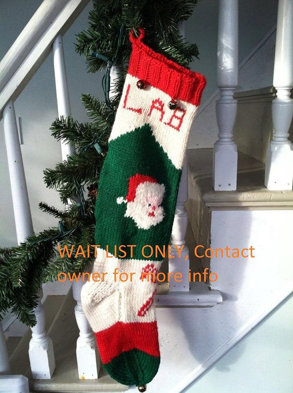 Christmas Stocking Santa Claus and Candy Cane Pattern from Bernat pat?