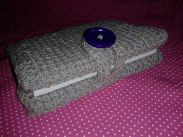 Crochet Book Cover Tutorial ~ Tunisian crochet book cover crocheting knitting