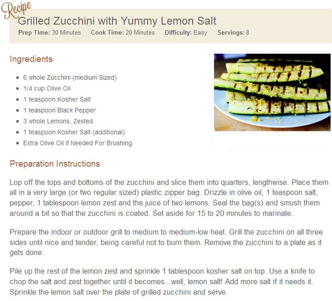 ... Best Paleo CookBook: [PALEO] Grilled Zucchini with Yummy Lemon Salt