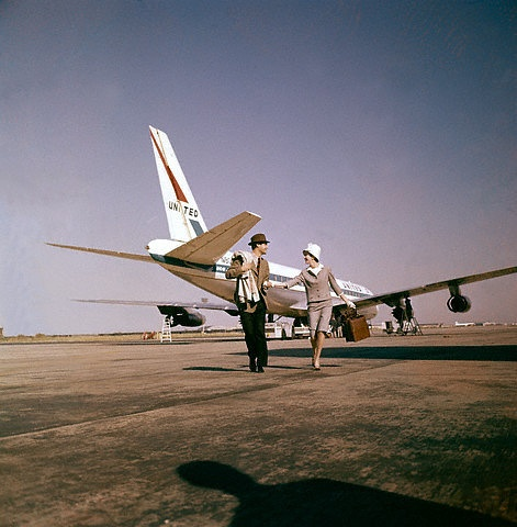 United Airlines Vintage 45