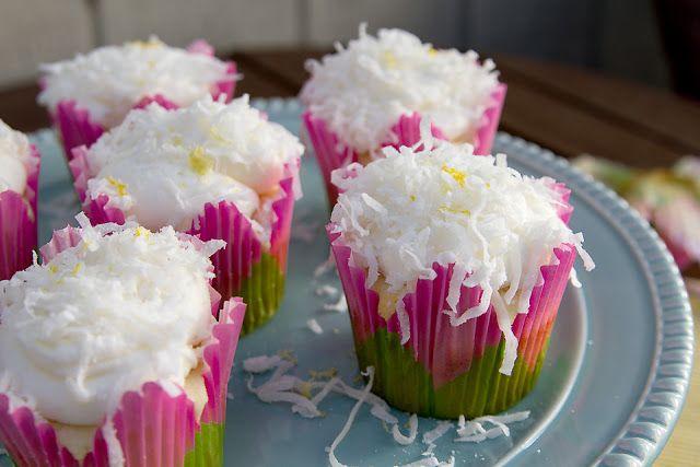 Lemon Coconut Cupcakes | Easy Healthy Eating | Pinterest