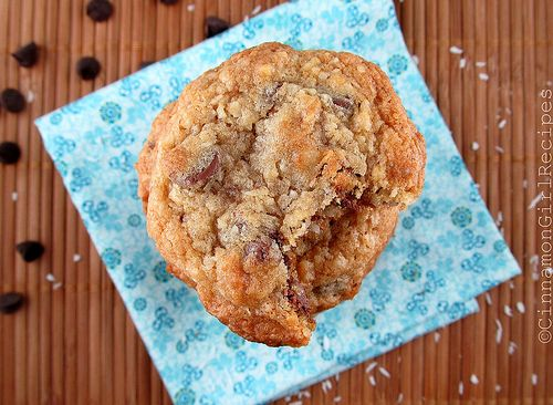 Chocolate Chip Coconut Crunch Cookies | The Cookie Jar | Pinterest