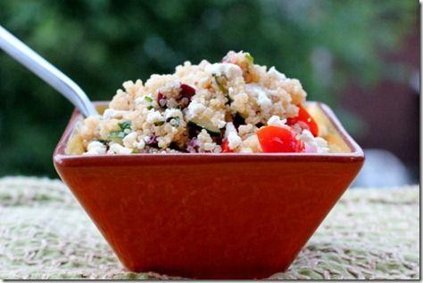 Mediterranean Quinoa Salad. All of the recipes on the Daily Garnish look fantastic!