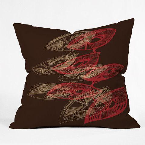 Julia Da Rocha Mushu Throw Pillow #fall #leaves #nature