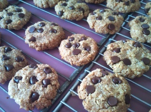 Delicious, but healthy! Quinoa peanut butter chocolate chip cookies.