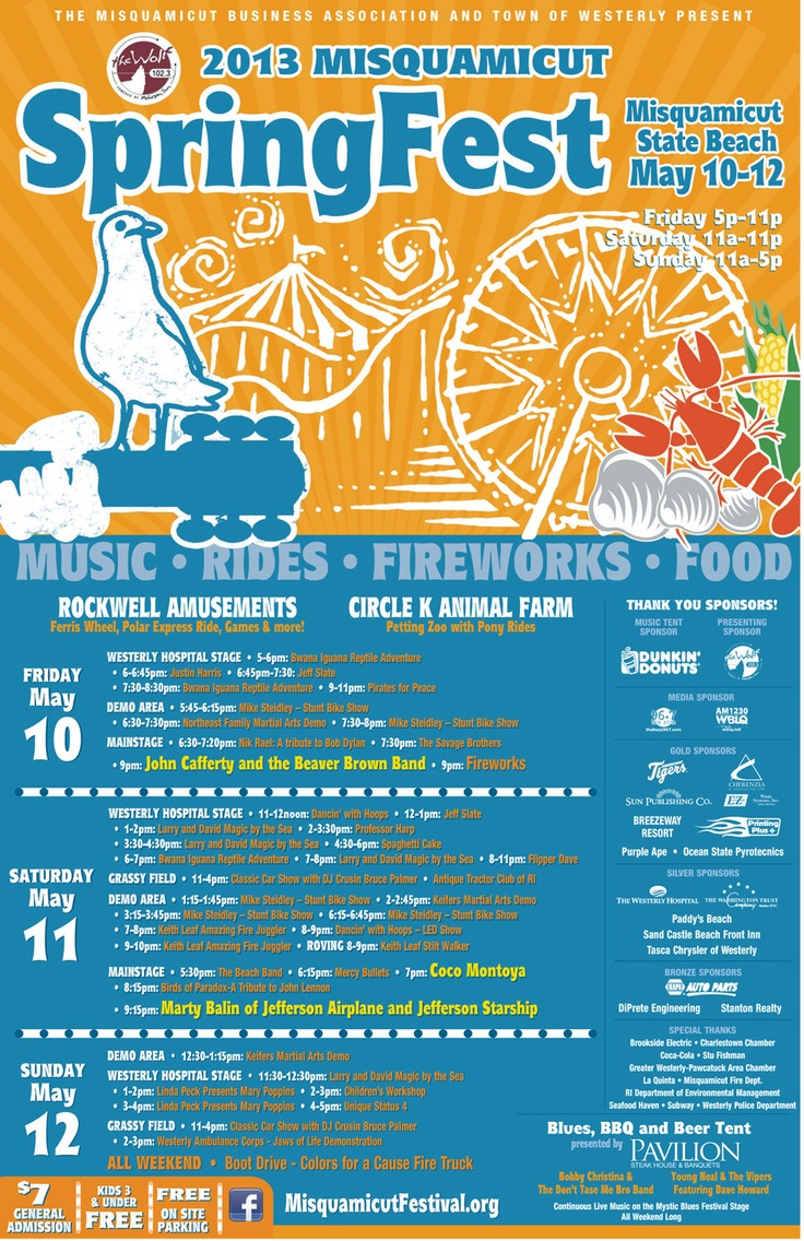 Misquamicut Spring & Fall Festival offers Fireworks, Music and ...