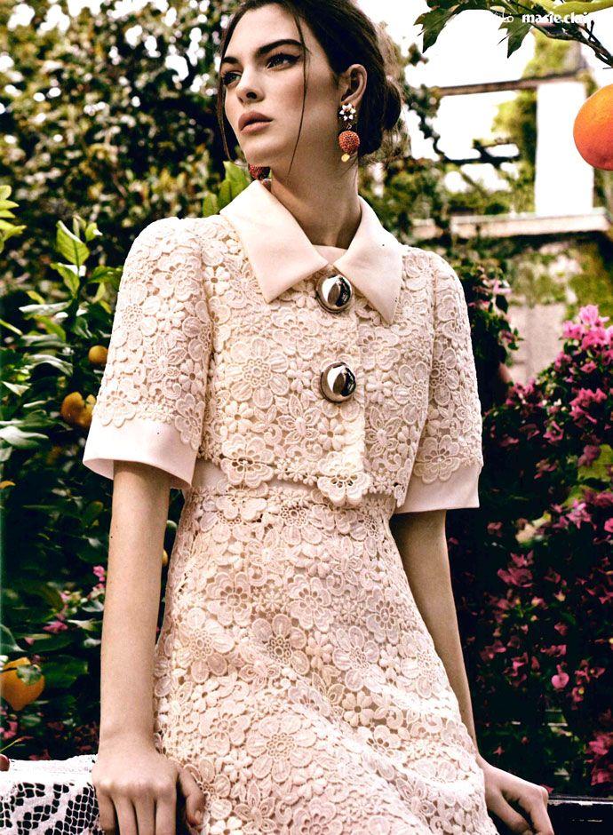 Vittoria Ceretti в Dolce & Gabbana Pre Fall 2014-15 на Marie Claire Кувейта и Аравии июля 2014 -