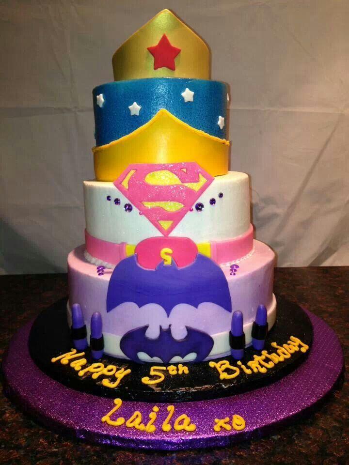 Girly Super Hero Cake. Baking Things Pinterest