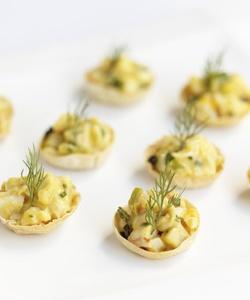 Mango Curry Shrimp Salad in Wonton Cups | Recipes | Pinterest