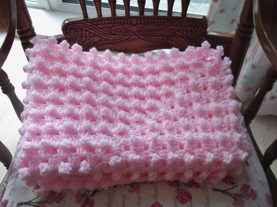 Baby Blanket Hand Made In A Crochet Popcorn Stitch Baby ...