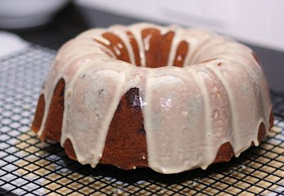 Brown Sugar and Chocolate Chip Pound Cake with Maple Glaze - A ...