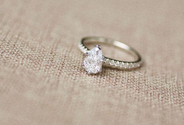 Teardrop engagement ring Everything Wedding