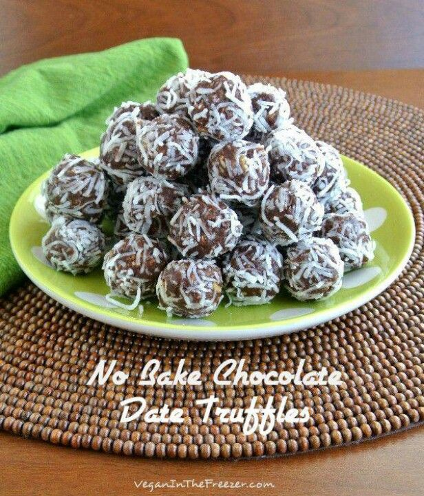 No Bake Chocolate Date Truffles | FROM THE KITCHEN | Pinterest