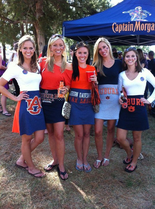 Gameday skirts----made out of large t-shirts.  So cute!