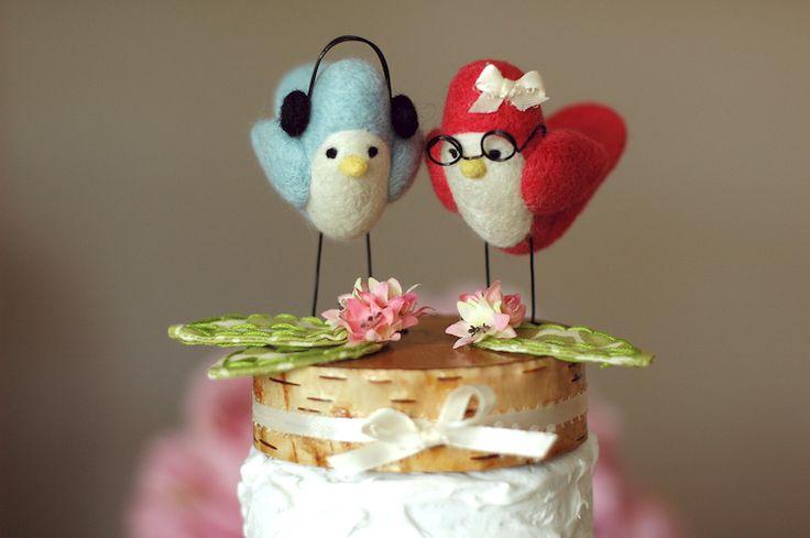 Wedding cake toppers - lovely <3