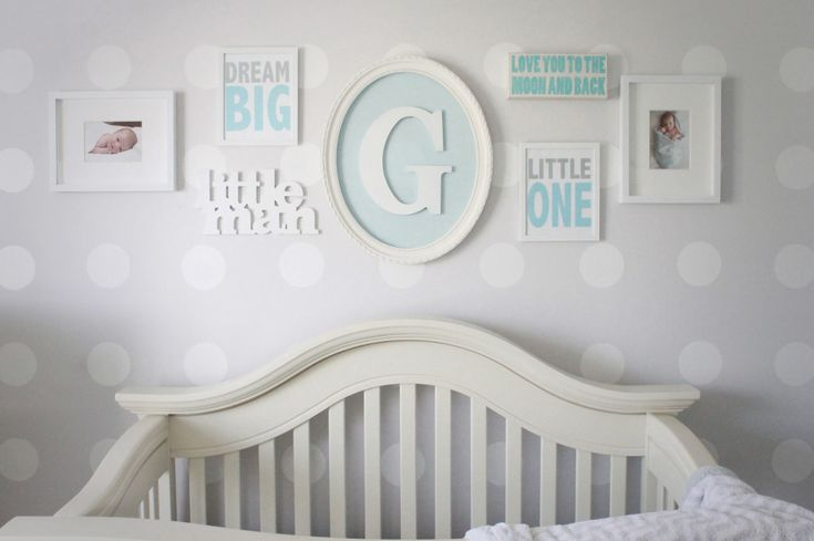 Simple, bright gallery wall