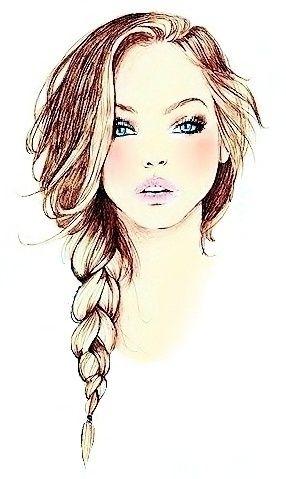 Otro Dibujo Color Cabello Drawings Drawings Fashion
