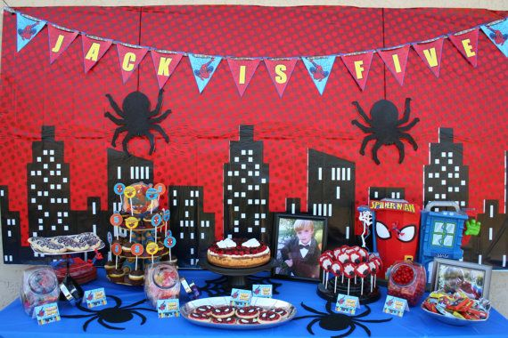 Spiderman party pack spider man party invitation for Spiderman decorations