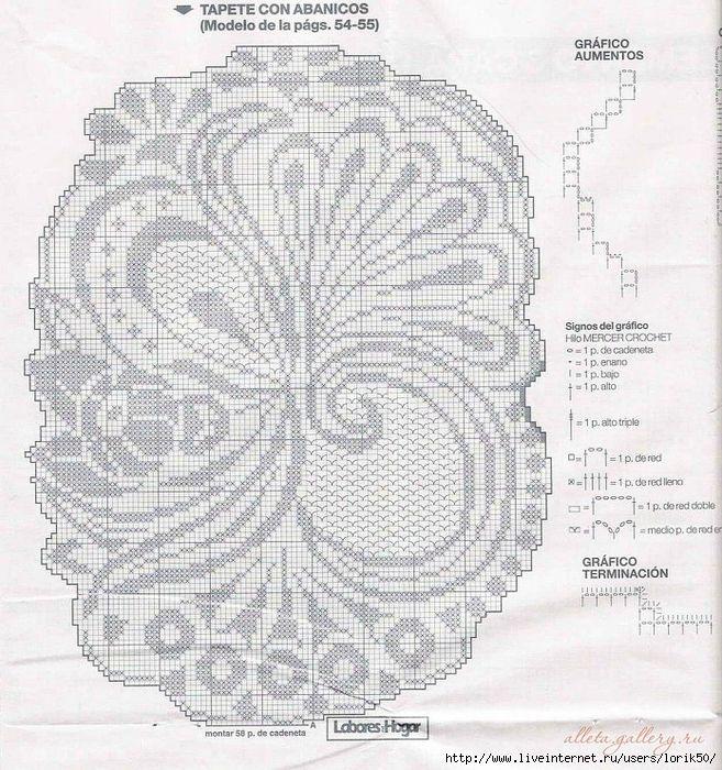 Филейное вязание крючком салфетки схемы и описание с