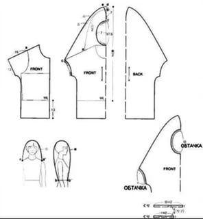 Выкройка необычных блузок