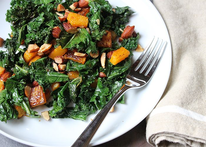 kale salad with butternut squash and almonds | TWELFTH AVENUE | food ...