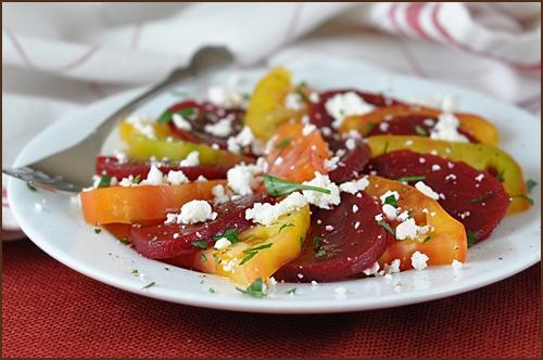 Heirloom Tomato Beet Salad | Eat The Healthy Stuff Too! | Pinterest