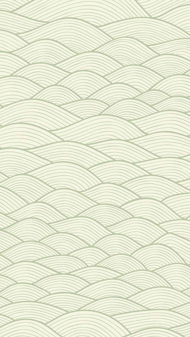 iphone wallpaper hand drawn mint waves