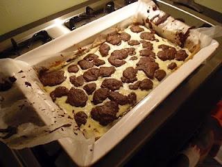 ... , But Still Quite Tasty Black & White Cheesecake Bars aka Brownies