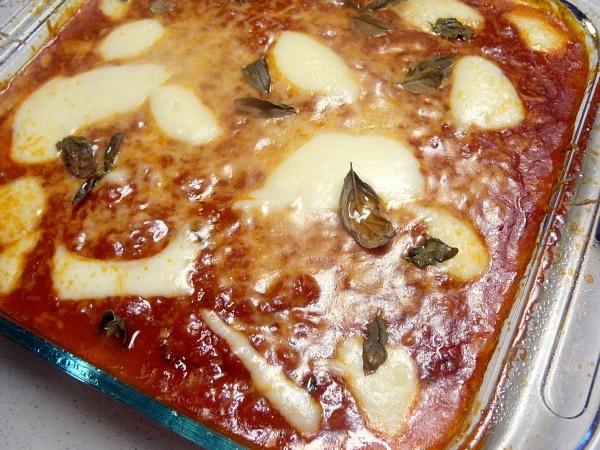 Baked Polenta with Mozzarella and Basil | DE LISH recipes | Pinterest