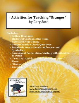 essay on oranges by gary soto