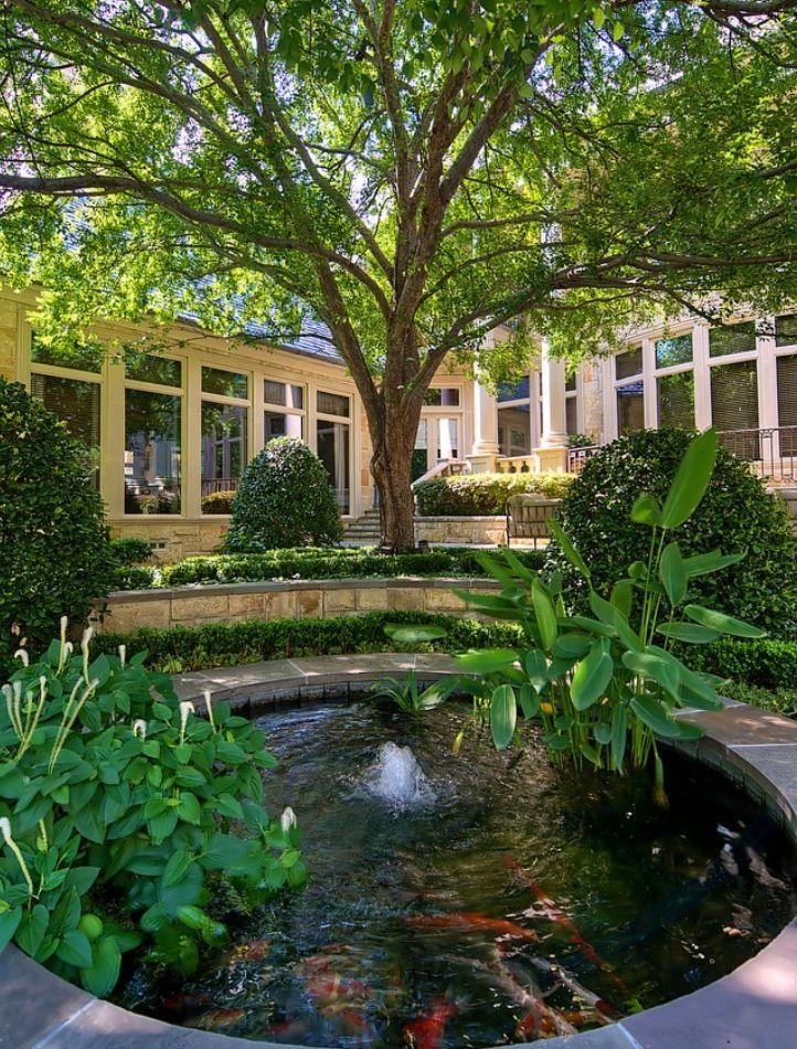 Koi Pond Backyard : Backyard with koi pond  Outside living  Pinterest