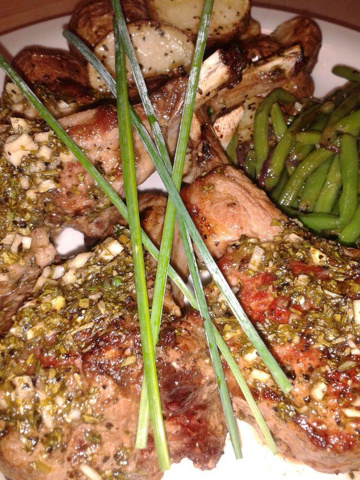 Herb Roasted Lamb Chops | foooddddd | Pinterest