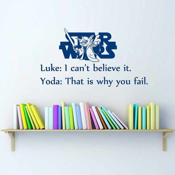 Vinyl Decal  Believe Star Wars Quote Home Wall  Decor Removable Sticker Mural L548  Unique Design Bed Room Office on Etsy, $24.99
