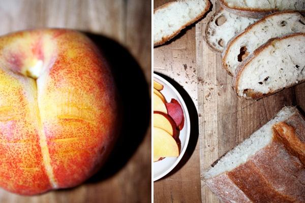 Peach, Prosciutto & Ricotta Crostini | baking and so :) | Pinterest