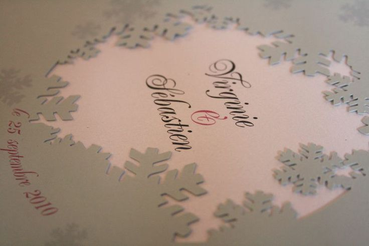 faire part mariage hiver wedding under snowflakes. Black Bedroom Furniture Sets. Home Design Ideas