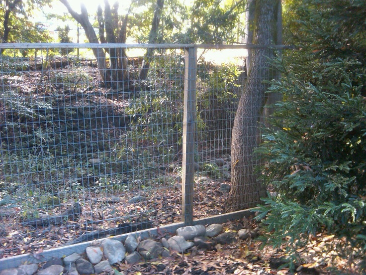Build a fence wood and wire fence fences pinterest - Build wire fence foundation ...