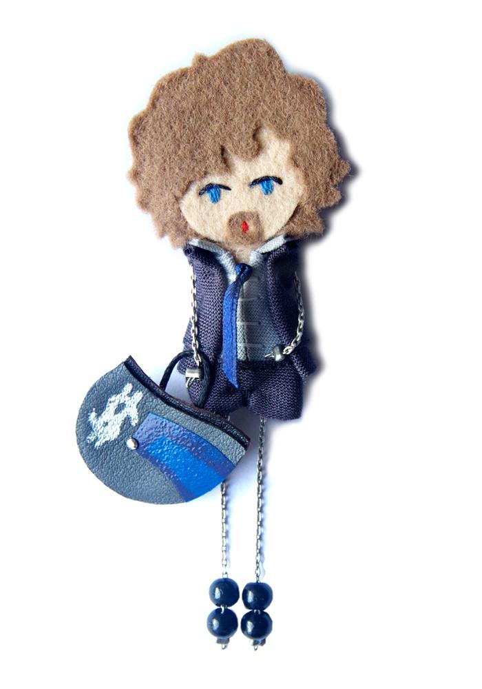 Байкер.  # # Войлочные куклы фибула кукла # # пользовательские куклы минимальных