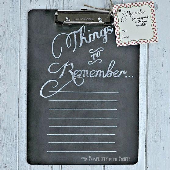Chalkboard Clipboard To-Do List for Teacher's Gifts