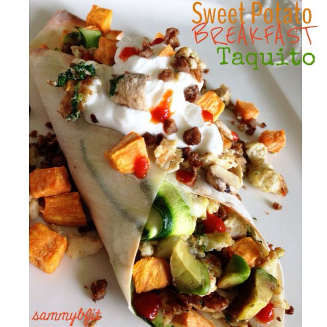 Sweet Potato Breakfast Taquito from 'Deliciously Fit' eBook- filled ...