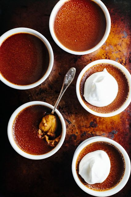 Burnt Caramel Orange Custards | Goodies | Pinterest