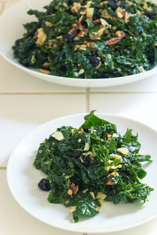 kale salad with cherries and pecans steamy kitchen recipes kale salad ...