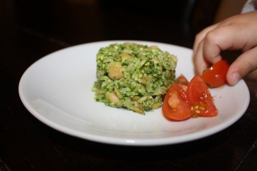 Spinach Brown Rice Pesto | BE HEALTHY | Pinterest