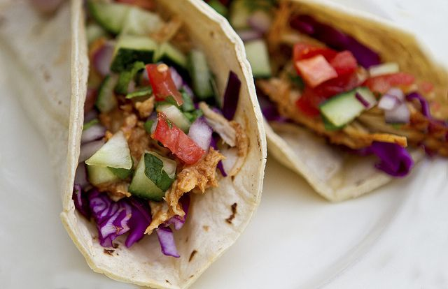 Slow Cooker Thai Chicken Tacos