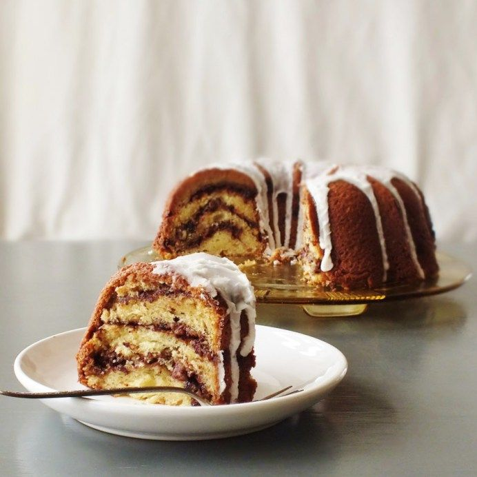 ... bundt cake with filling/layers of brown sugar, cocoa, cinnamon
