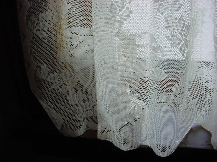 Martha Stewart Single Sheer Lace Curtain Panel Tea Cup Pattern A220 C ...