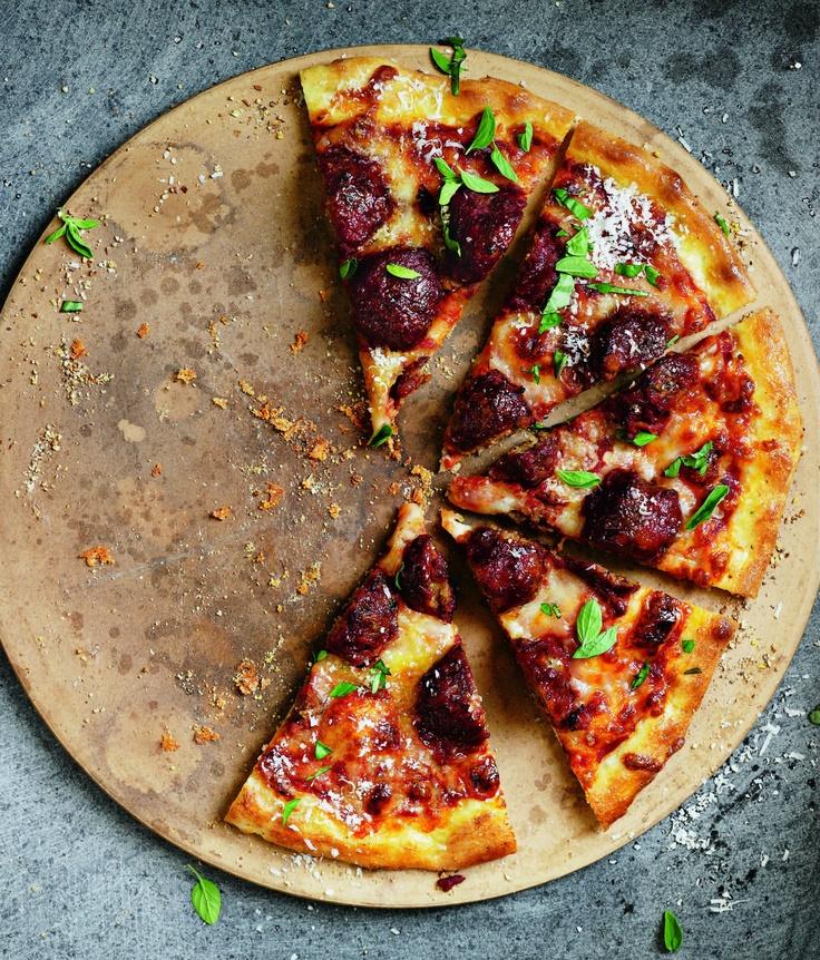 Meatball Pizza | Food | Pinterest