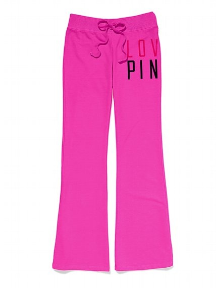 Clearance victorias secret pink fitted flare pant victorias secret