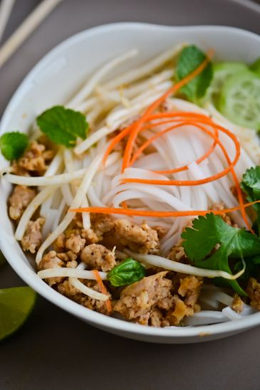 lemongrass chicken with rice noodles. Day 12. 30 days, 30 dishes ...